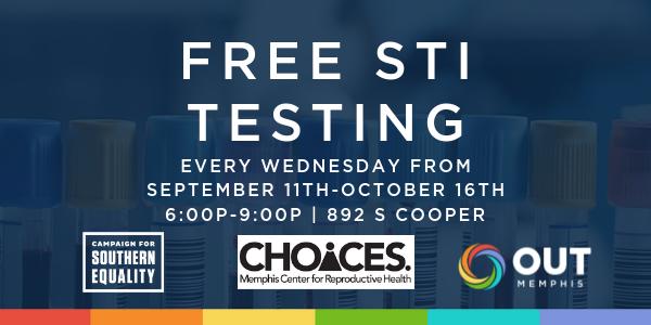 Free STI Testing Starts September 11th