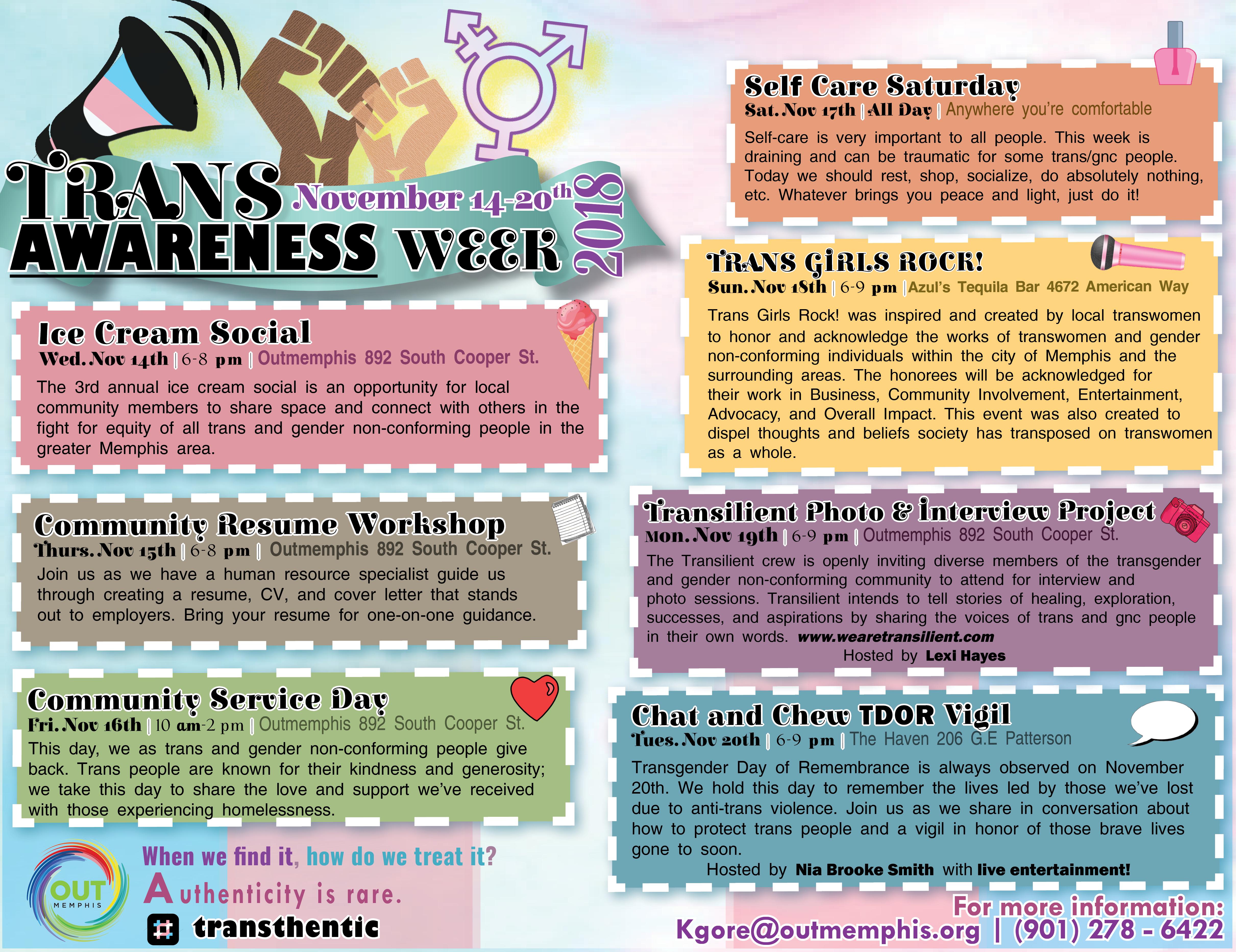 Trans Awareness Week | OUTMemphis
